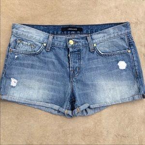 J Brand Patti Destructed Roll Hem Shorts 26 0457